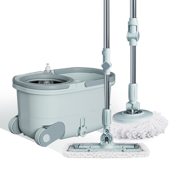 Mop lever rotation universal hand-free washing household automatic lazy lazy one mop mopping bucket barrel artifact mop net