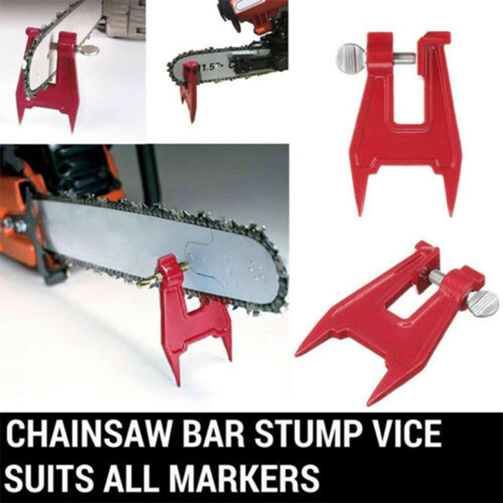 Stump Vise Saw Chain Sharpening Filing Tool Bar Clamp Chainsaw Accessories Filing Professional Saw Chain Holder Saw Chain