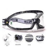 Óculos de segurança de construção óculos anti-nevoeiro lente anti-poeira forte à prova de impacto de alta velocidade uv-proteção com máscara de poeira pm2.5