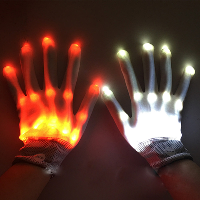Toys For Children Hot Newest Arrival Light-Up Toys LED Flashing Magic Glove Glow In The Dark Toys Light Up Finger Tip Lighting