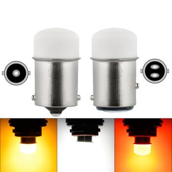 P21 5W Led 1157 wysokiej jasności światła samochodowe BAY15D 1156 P21W Ba15S żarówka SMD Auto uniwersalna lampka kierunkowskazu hamulca biały DRL12V tanie i dobre opinie CN (pochodzenie) światła cofania BA15D (1157) 12 v Uniwersalny 1157 1156 turning light clearance bulb reverse lamp tail light