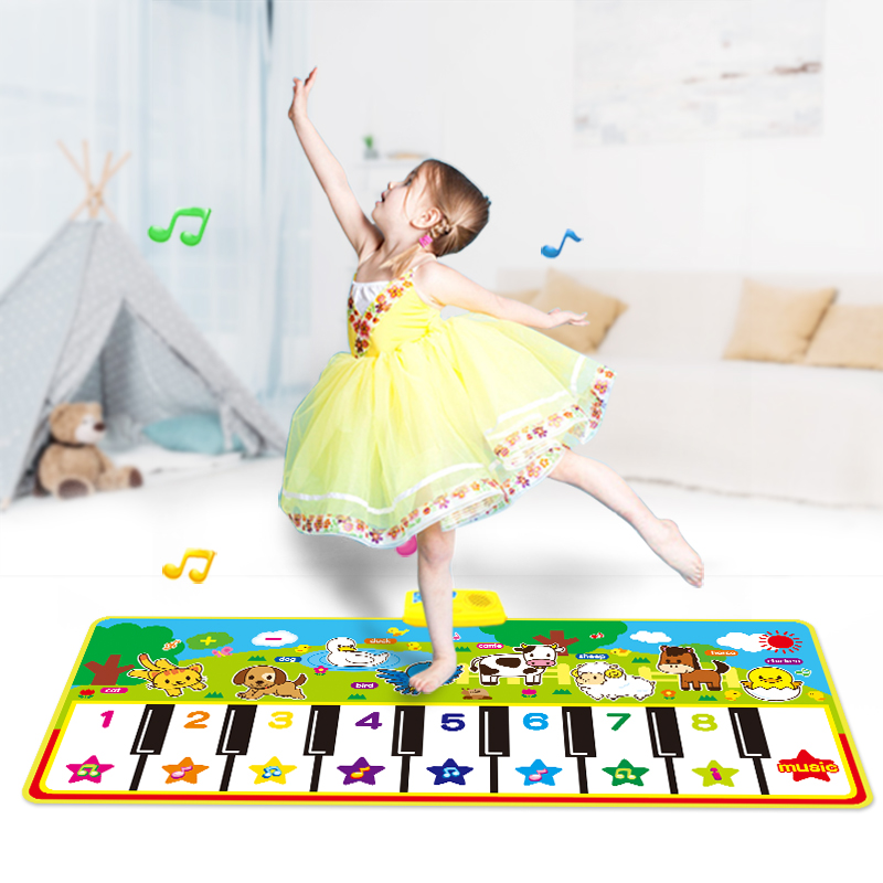 4 Types Animal Theme Musical Piano Mat Baby Play Mat Instrument Toys Music Toys Game Mat Educational Toys for Kids | Happy Baby Mama