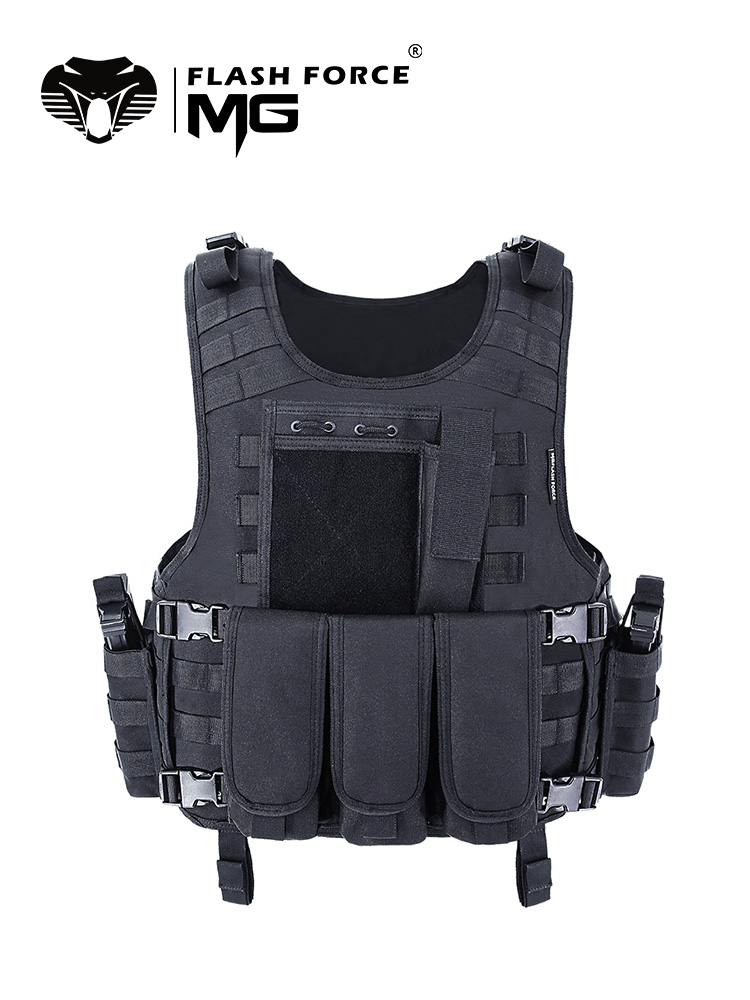 Police Vest Plate-Carrier Swat Army-Armor Military Molle Fishing MGFLASHFORCE