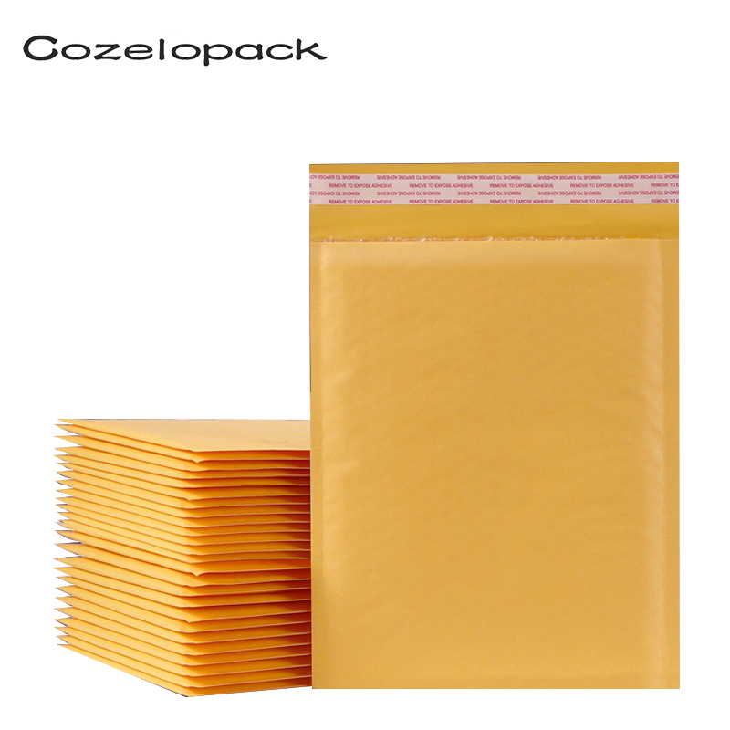 50PCS/15 Sizes Kraft Bubble Envelopes Paper Packaging Bags Padded Mailers Shipping Package Bubble Envelope Courier Storage Bags