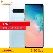 Samsung S10 G973U G973U1 orijinal cep telefonu Snapdragon 855 Octa çekirdek 6.1
