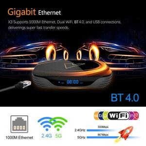 Image 3 - VONTAR X3 4GB 128GB 8K التلفزيون مربع الروبوت 9 الذكية الروبوت TVBOX 9.0 Amlogic S905X3 Wifi 1080P BT 4K مجموعة أعلى مربع 4GB 64GB 32GB