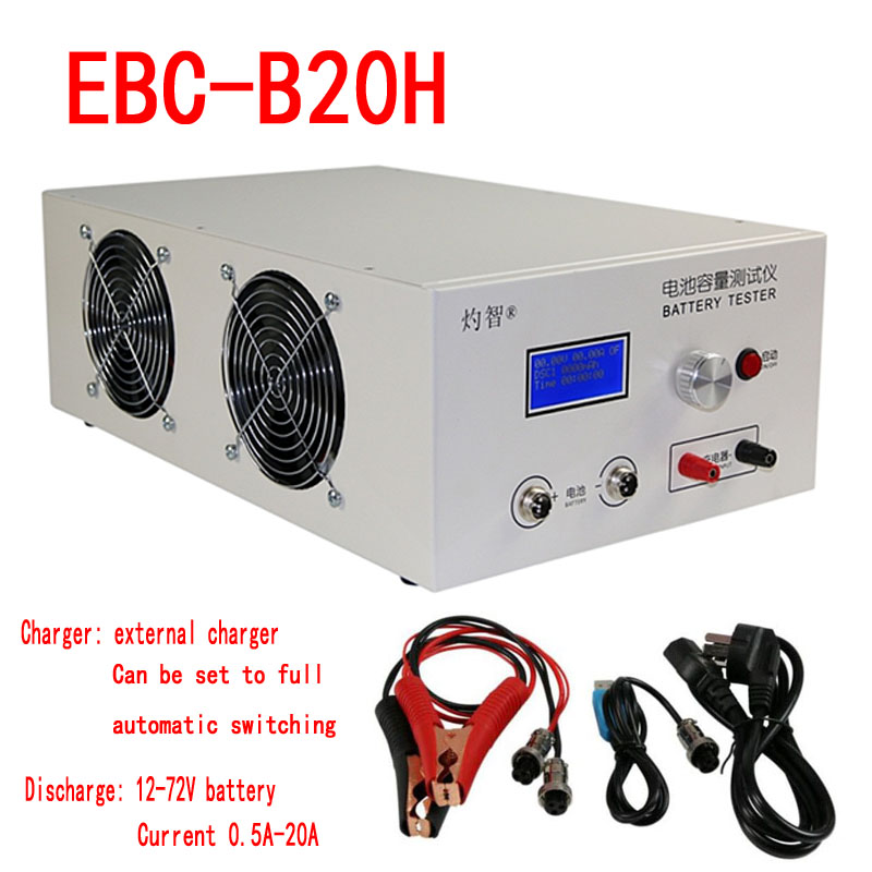 EBC B20H 12 72V lithium lead acid battery capacity tester Online Computer Software Support external charger discharger 20A