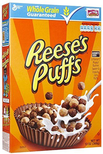 General Mills Reese's Puffs 368g - Vollkorn-Zerealien Mit Hershey's Kakao & Reese's Erdnussbutter-Geschmack.