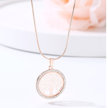 Crystal Round Small Pendant Necklace Jewelry Necklaces Women Jewelry