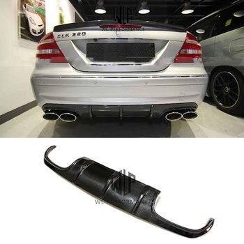W209 High Quality Carbon Fiber Auto Rear Lip Diffuser Car Styling For Mercedes-Benz CLK Class W209 Car Body Kit 2003-UP