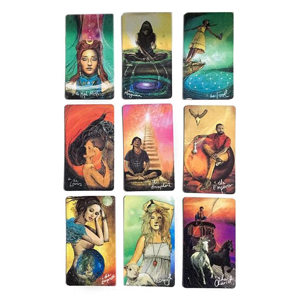 78PCS Light Seer's Tarot Card Games Full English Tarot Board Game Family Party Cards Game Holiday Playing Cards Board Games Set
