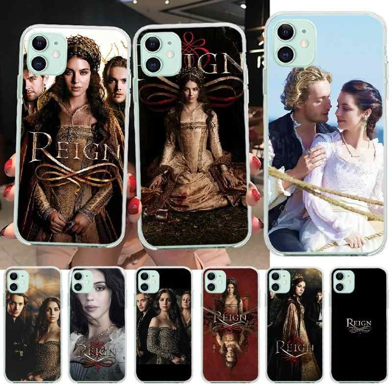 NBDRUICAI TV series Reign etui na telefon iPhone 11 pro XS MAX 8 7 6 6S Plus X 5S SE XR okładka