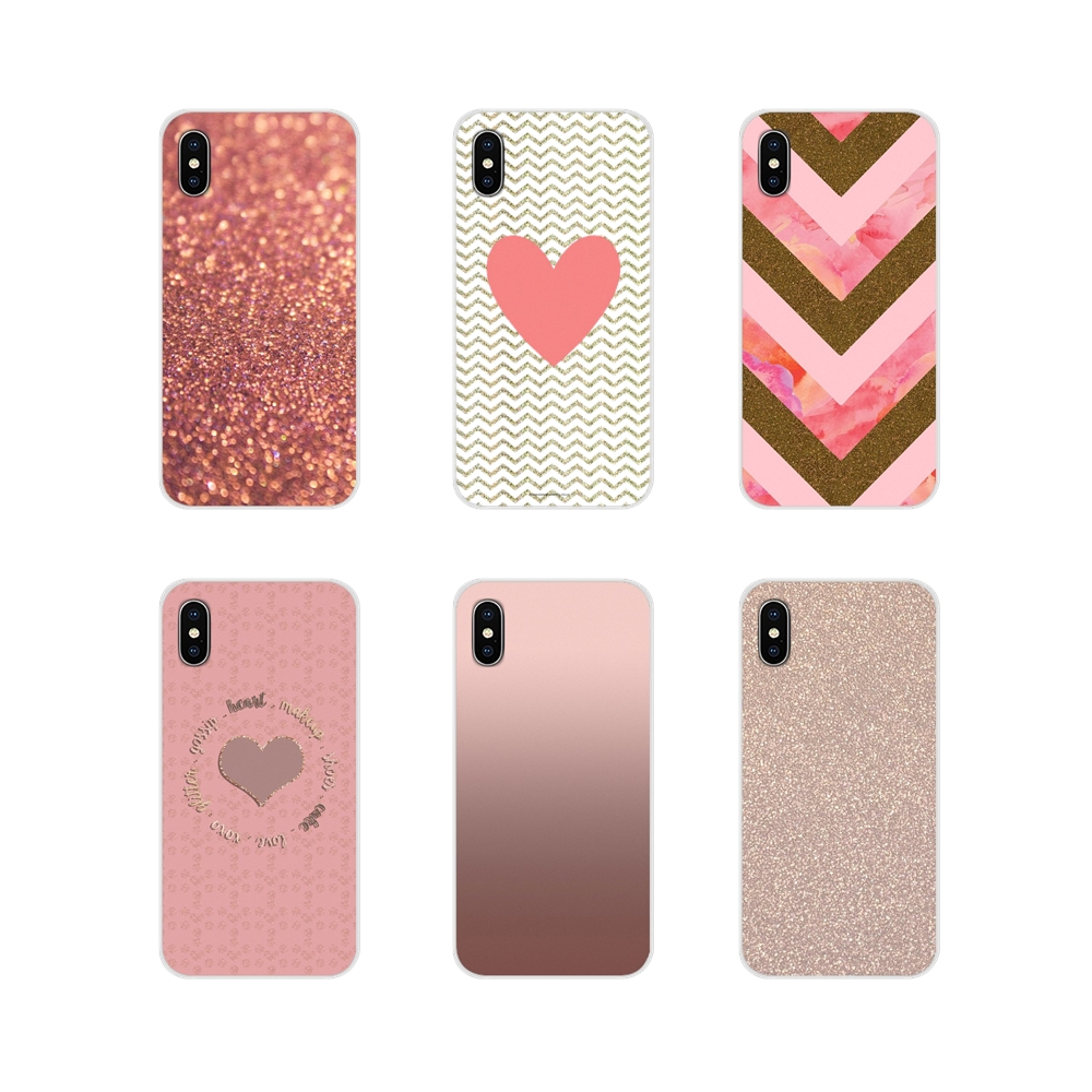 Silicone Skin Cover Rose Gold Glitter Sparkles Wallpaper For Samsung A10 A30 A40 A50 A60 A70 M30 Galaxy Note 2 3 4 5 8 9 10 Plus Phone Case Covers Aliexpress