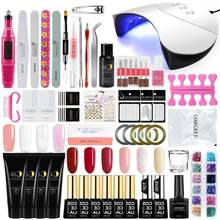 Kuku Set Manicure Set Cat Kuku Gel Kit Builder Gel Nail Art Alat Kristal Warna Cepat Bangunan Alami Gel bahasa Polandia(China)