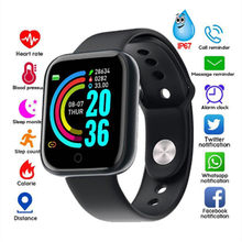 2020 Y68 Smart Watch Tahan Air Bluetooth Tekanan Darah Kebugaran Tracker Monitor Detak Jantung Smartwatch untuk IOS Android PK Q18(China)