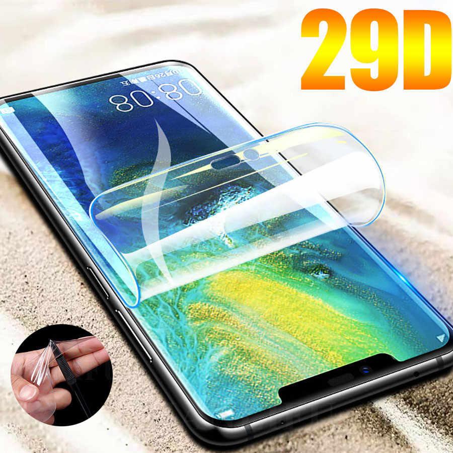29D ekran koruyucu hidrojel Film için Huawei Y9 Y5 Y7 2019 Y7 2018 koruyucu Film Huawei Y6 başbakan Y7 y6 2019 Film değil cam