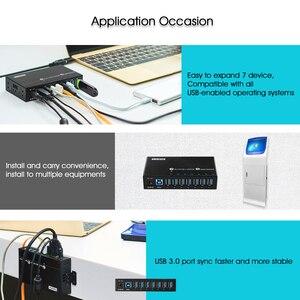 Image 5 - Sipolar Industriale USB 3.0 di Ricarica Hub 7 Porte 12V del Caricatore del USB HUB In Alluminio Con 12V 3A Adattatore di Alimentazione indicatore LED Staffa