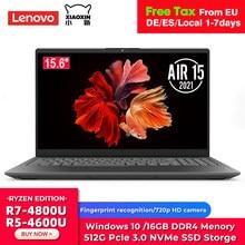 Laptop originale Lenovo Xiaoxin Air 15 2021 Ryzen Edition AMD Ryzen 7 4800U Ryzen 5 4600U 16GB DDR4 512GB SSD Notebook da 15.6 pollici