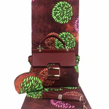 Micle Fashion Conjuntos de bolsos de cera africana, 3 unidades/juego, bolso de cera ankara a juego, 6 yardas, la mejor tela de cera suave nuevo