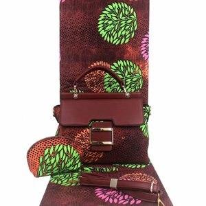 Image 1 - Micle Fashion african wax bag sets 3 pieces/set ankara wax handbag matching 6 yards real best soft new wax fabric