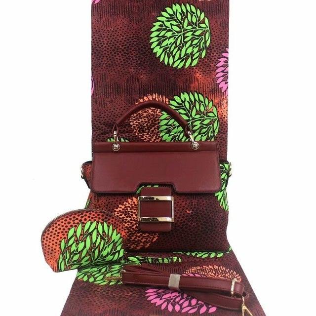 Micle moda afrykańska woskowana tkanina torba zestawy 3 sztuk/zestaw woskowana ankara torebka pasująca do 6 metrów prawdziwe najlepszych miękkie nowy wosk tkaniny