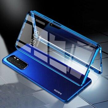 Перейти на Алиэкспресс и купить Магнитный чехол для Xiaomi Note 10 Lite, двухсторонний адсорбционный чехол из закаленного стекла для Xiaomi MI Note 10 Lite MI Note10 Pro