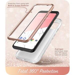 Image 3 - Voor Google Pixel 4 XL Case 6.3 inch (2019) i BLASON Cosmo Full Body Glitter Marmer Bumper Case met Ingebouwde Screen Protector