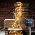BEIAIDI 5*2 м 10*2 м Солнечный лоза медный светодиодный Сказочный свет Солнечная Ветка лозы ветка струна наружная Рождественская Праздничная свет...
