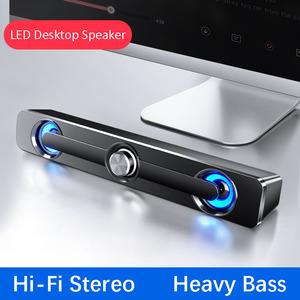 USB Wired Powerful Computer Speaker Bar Stereo Subwoofer Bass speaker Surround Sound Box for PC Laptop phone Tablet MP3 MP4(China)