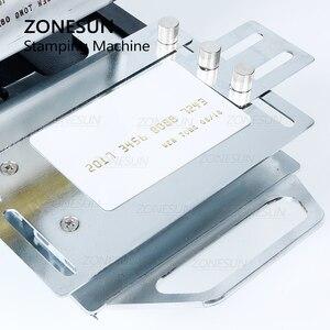 Image 4 - ZONESUN máquina de estampación en caliente de 220V/110V, cortadora de tarjetas para cuero, tarjeta de PVC + 2 gratis FO