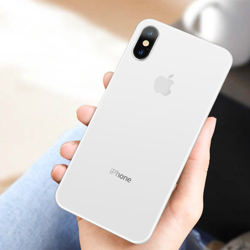 0.26mm Ultra Thin Original PP Case On The For iphone X XR XS Max Full Cover For iphone 6 6s 7 8 PLus Matte Shockproof Slim Case image
