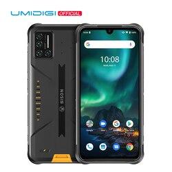 UMIDIGI Зубр 48MP матрица Quad Камера прочный телефон IP68/IP69K Водонепроницаемый 6,3 дюймFHD + безрамочный экран с Дисплей 6 ГБ + 128 Гб NFC Android 10 смартфон