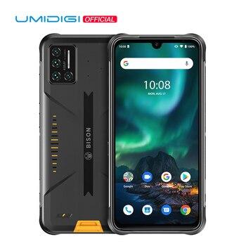 Перейти на Алиэкспресс и купить UMIDIGI Зубр 48MP матрица Quad Камера прочный телефон IP68/IP69K Водонепроницаемый 6,3 дюймFHD + безрамочный экран с Дисплей 6 ГБ + 128 Гб NFC Android 10 смартфон