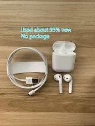 Apple AirPods 2nd with Charging Case Bluetooth Earphone Wireless Earbuds Tones Connect Siri for iPhone iPad Mac Apple Watch
