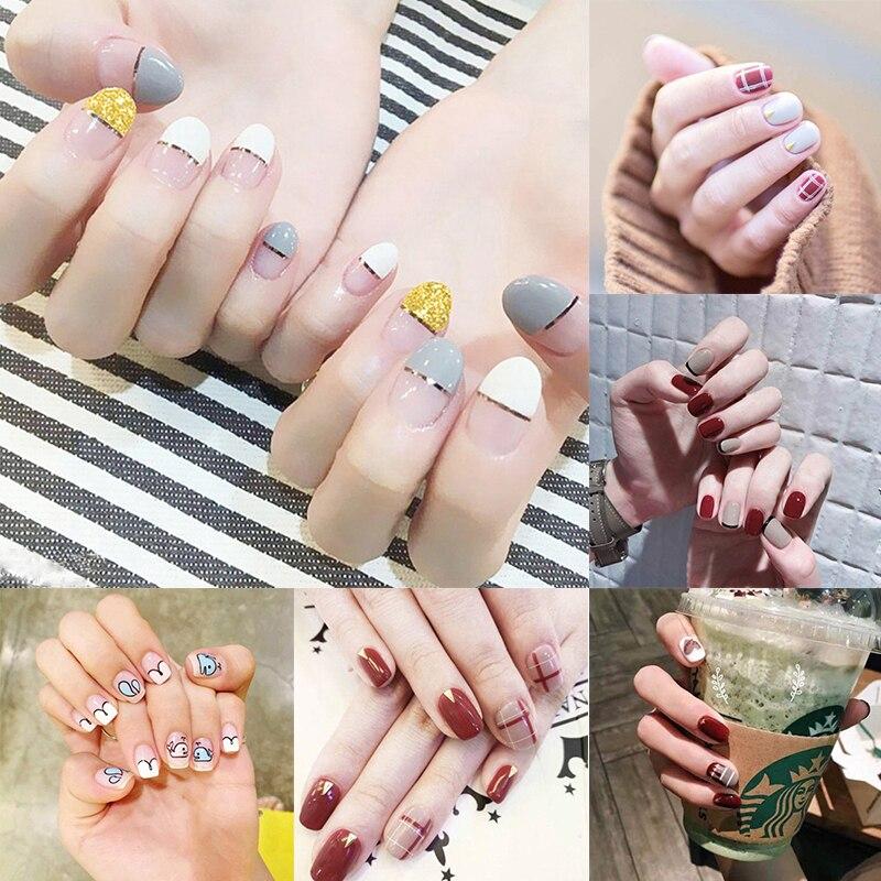 Us 0 08 15 Off 2019 Hot Selling Fashion Cute Nail Sticker Nail Polish Film Adhesive Nail Art Nail Decoration Fake Nail On Aliexpress