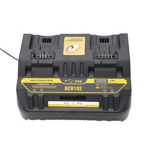Зарядное устройство для литий-ионных аккумуляторов DCB102, быстрое зарядное устройство с 2 выдвижными портами 4A, зарядный ток, USB 2 А, DCB200 DCB140 для...