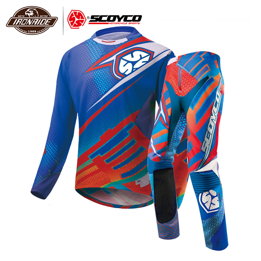 Clearance SCOYCO Professional Motocross Jacket Men Motorcycle Jacket Summer Suit Motorcycle Jersey Racing T-Shirt  Clothing#