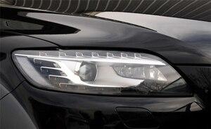 Image 2 - Audi Q7 용 자동차 전조등 렌즈 2006 2007 2008 2009 2010 2011 2012 2013 2014 2015 자동차 헤드 라이트 전조등 렌즈 자동 쉘 커버