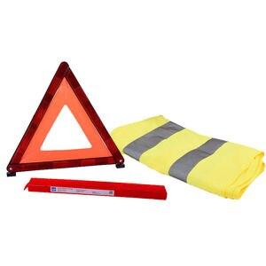 Image 4 - Araba acil üçgen reflektör yansıtıcı ceket arıza uyarısı güvenlik otomatik katlanmış dur işareti yol reflektör araba aksesuarları