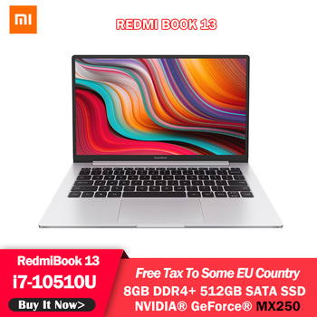 Original Xiaomi RedmiBook 13.3 inch MX250 Laptop Intel Core i7-10510U 8GB RAM DDR4 512GB SATA SSD Windows 10 NoteBook 1