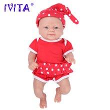 IVITA WG1512 36см 1,65 кг Полный корпус силикон bebe reborn кукла с 3 цветами глаз реалистичный девочка ребенок игрушка для детей с одеждой