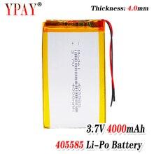 цена на 3 line Liter energy battery 3.7V lithium polymer battery 405585 4000MAH game machine MP3 MP4 MP5 lithium battery GPS navigator