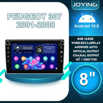 8Autoradio Android 10 Car Radio Stereo 4GB 64GB GPS Navigation For Peugeot 307 2001 2008 Multimedia Player Carplay DVR Camera image