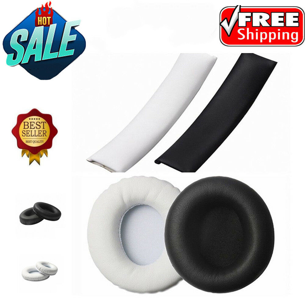 Replacement Ear Pads Cushion+Headband For Beats By Dr.Dre Studio 1.0 Headset