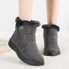 Новинка 2021, женские ботинки, зимние ботинки, водонепроницаемые теплые плюшевые ботильоны для женщин, зимние ботинки, женская обувь, женские ...
