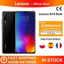 Global Versão Lenovo K10 Nota (Z6 Lite) 64GB 128GB Snapdragon 710 Octa Núcleo Triplo Voltar Cams 6.3 Polegada Gota de Água 4050mAh