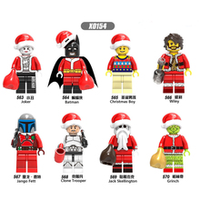 X0154 Building Blocks Jack Skellington Super Heroes Christmas Boy Joker Jemma Action Figures Bricks Toys for Children Gifts DIY