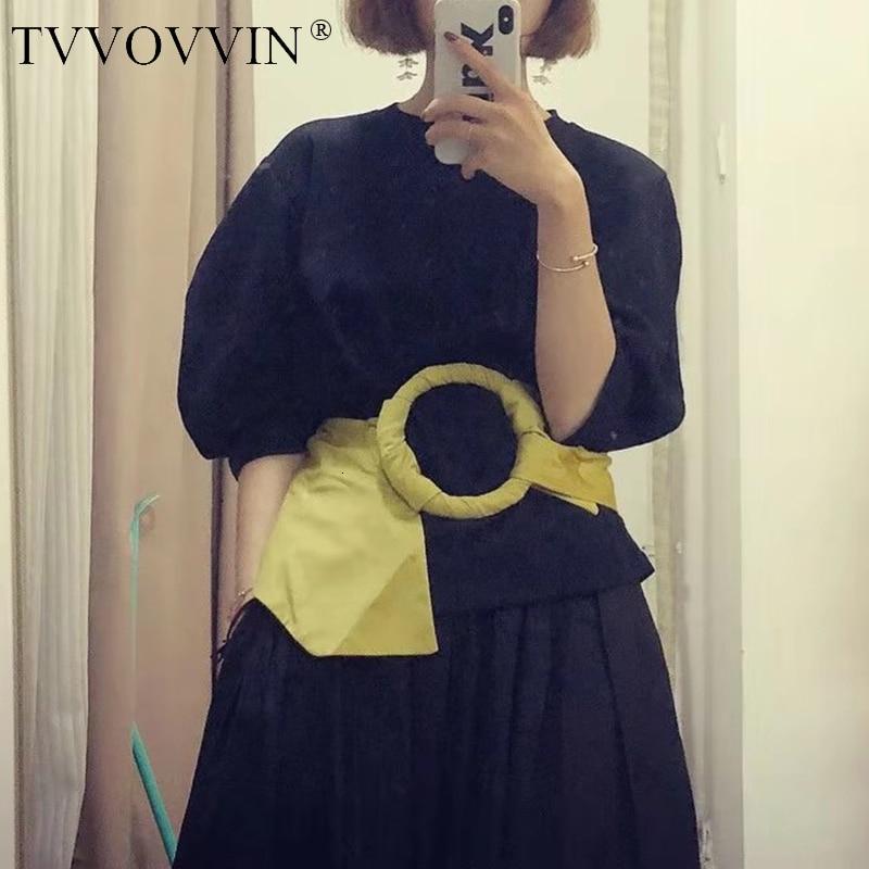 TVVOVVIN Women Belt Ring All Match Width Elastic Belts Woman Yellow Fashion Vintage Personality Wide Belts Women 2019 Sexy B369
