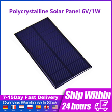 Polycrystalline Solar Panel 6V/1W Electronic DIY Module Mini Solar System DIY For Battery Cell Phone Charger Portable Solar Cell