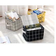Desktop storage basket sundries underwear toy box cosmetic book stationery laundry